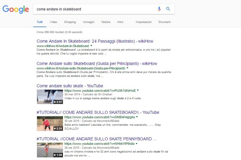 Risultati video Google