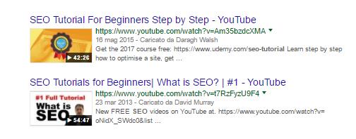 risultati seo tutorial